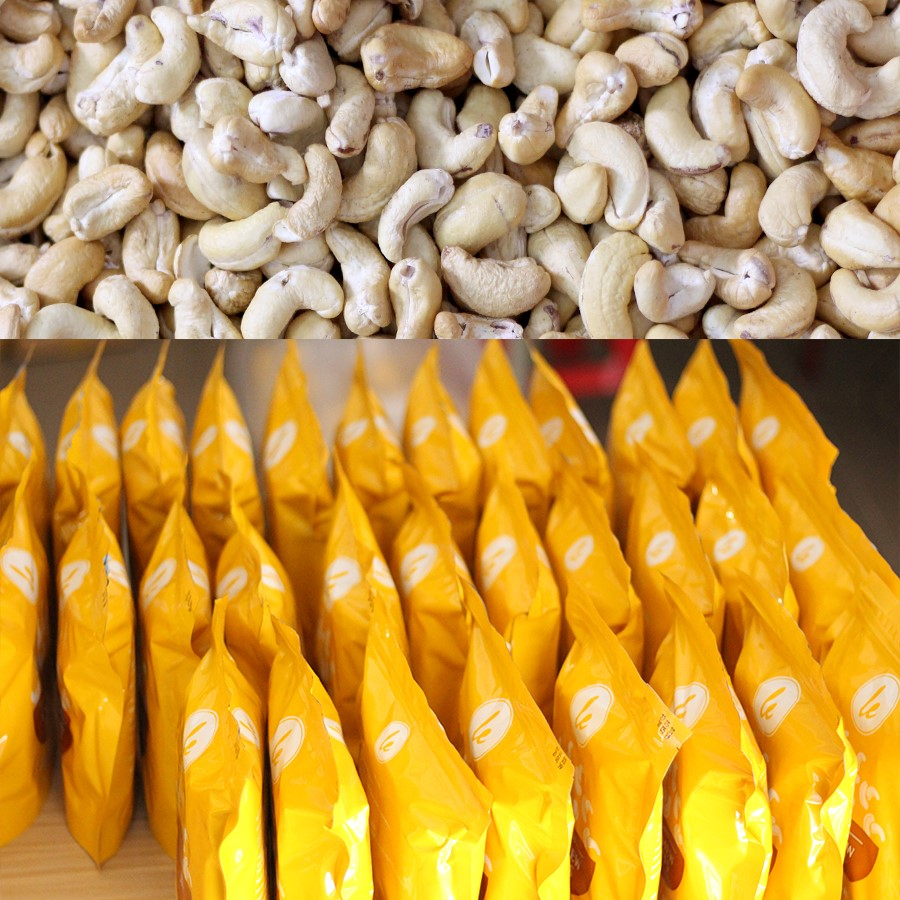 Hạt điều rang muối bóc vỏ nguyên hạt 500g (biếu tặng cho người châu Âu)