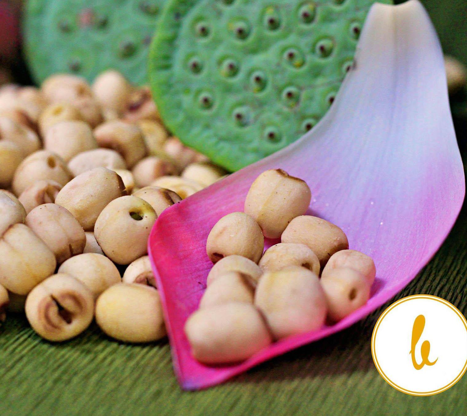 Hạt sen sấy giòn ăn liền  400g (loại béo ngậy rất ngọt và ngon)