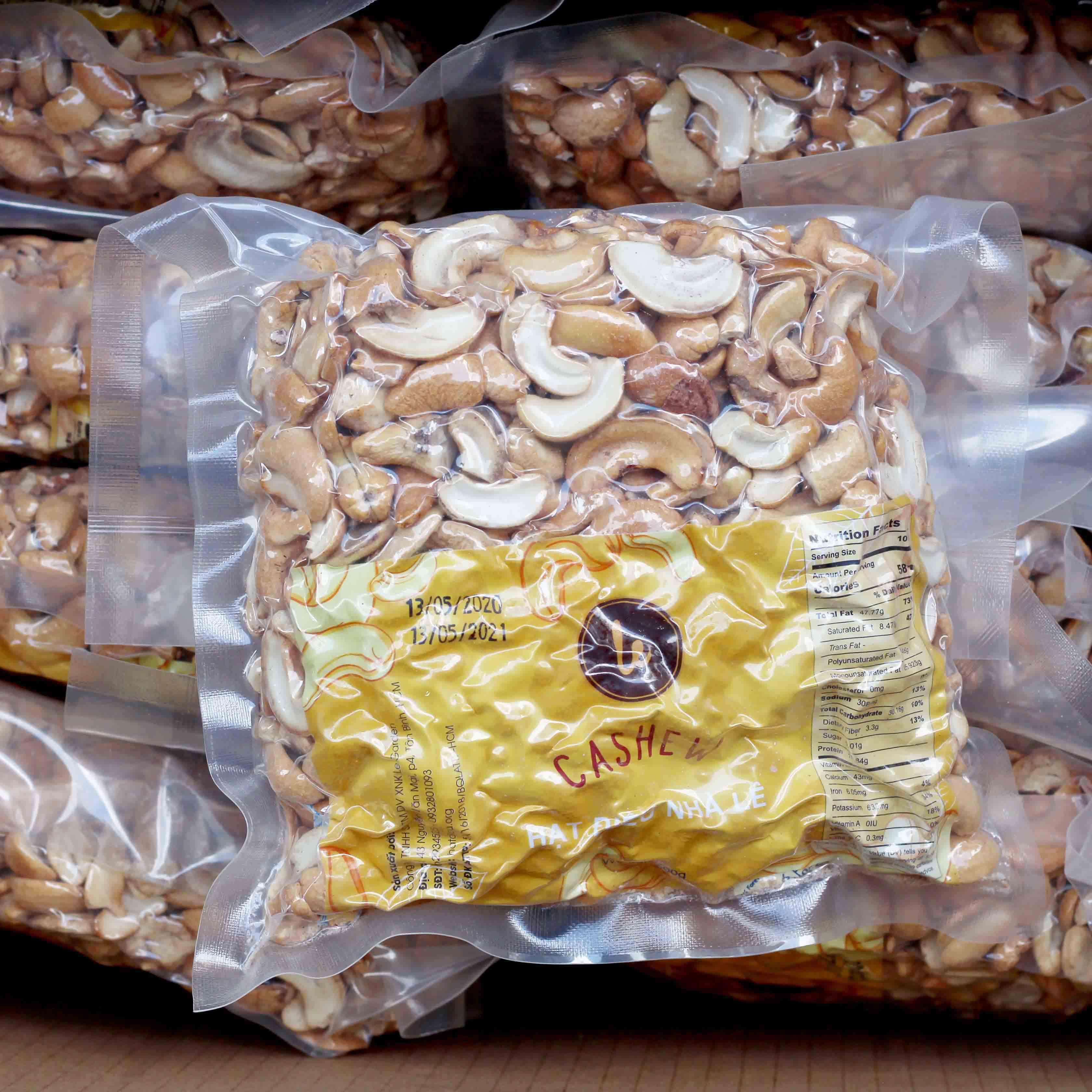Hạt điều vỡ hỗn hợp bóc vỏ rang muối 500g (chuyên ăn vặt)